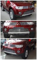 Решетка алюминьевая в передний бампер для Pajero Sport 2008-