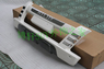 Дуга передняя (кенгурятник) пластик на Toyota Hilux\Vigo\Pick Up 2012г.+