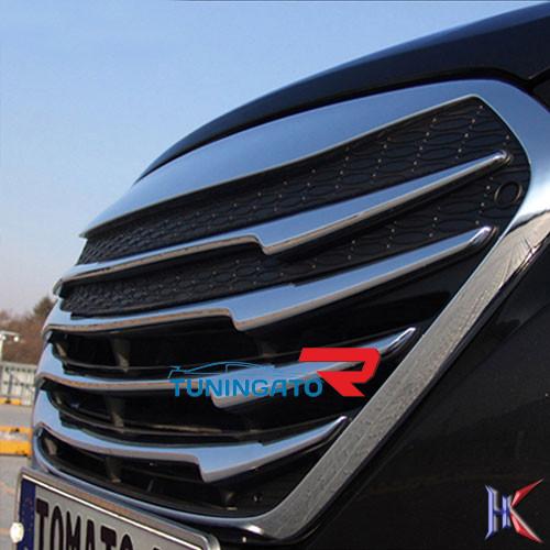 Решетка радиатора Dimond на Hyundai ix35 2012+