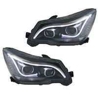 Тюнинг фары ангельские глазки для Subaru Forester 2012-15г