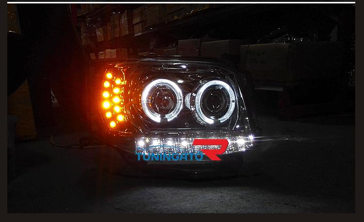 Фары ангельские глазки для Toyota Hice 2010-14г.