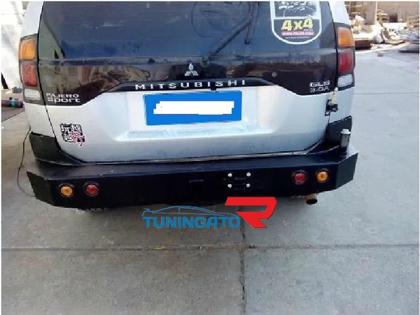 Бампер задний металлический для Mitsubishi Challenger\Pajero Sport 96-04г.