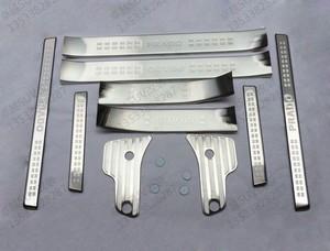 Металлические накладки на пороги для LC Prado 150 (2013+)