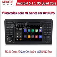 Штатная магнитола все форматная Android 5.1 для Mercedes GL 05-12г