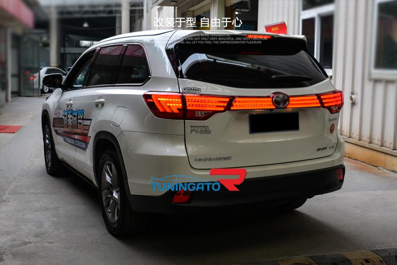 Диодные стоп-сигналы для Toyota Higlander 2014г-