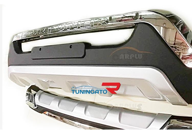 Накладки на бампера для Toyota Fortuner 2015+