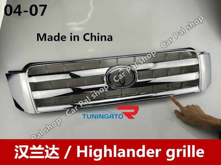 Решетка радиатора хром для Toyota Kluger 01-07