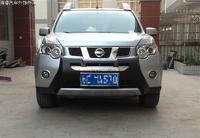 Защитная накладка на передний бампер для Nissan X-Trail 2007-