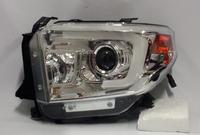 Тюнинг фары ангельские глазки хром для Toyota Tundra 2014г.+