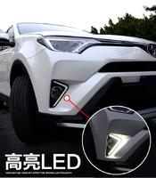 Ходовые огни в бампер под туманки для Toyota RAV4 2015+