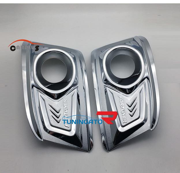 Хромированные накладки на туманки V2. для TOYOTA FORTUNER 2012