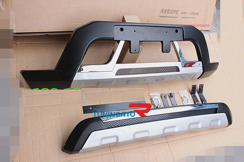 Защитные накладки на бампера для MMC Pajero Sport 2008-