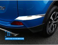 Хром накладки на задний бампер боковые для TOYOTA RAV4 2015+