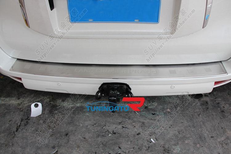 Металлическая накладка на задний бампер для LC Prado 150 (2013г.)