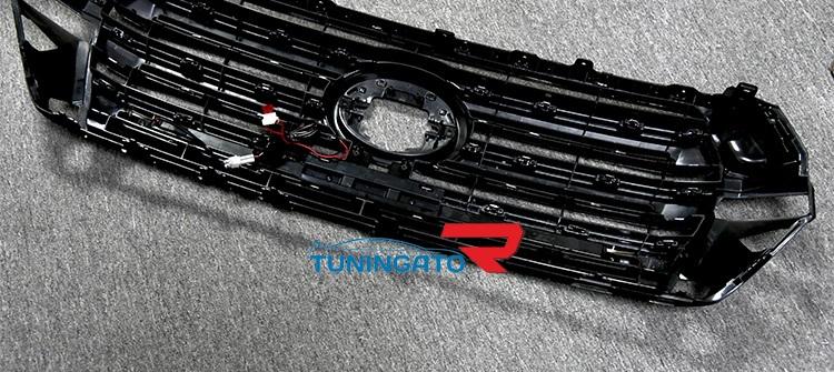 Решетка радиатора с LED огнями для Land Cruiser 2015-