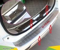 Накладка на задний бампер для Nissan X-trail 2014-
