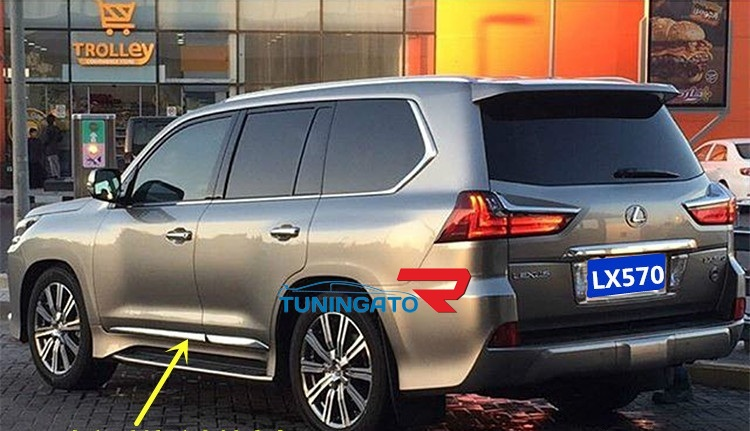 Хром молдинги на двери для Lexus LX570\450d 2015+