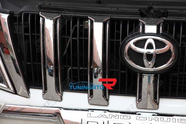 Хром накладки на решетку радиатора для LC Prado 150 (2014г.)