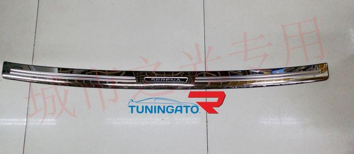Хром накладка на задний бампер для Nissan Serena 06-10г. С25/26