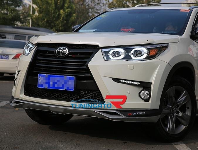 Передний бампер в стиле Lexus для Toyota Highlander 2015-