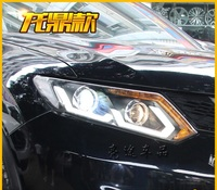 Фары ангельские глазки для Nissan Quashqai 2013г-