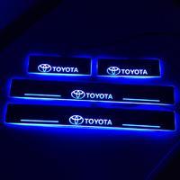 Хром накладки с подсветкой на пороги для TOYOTA BELTA / YARIS / VIOS (2006-)