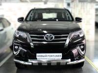 Защита переднего бампера d-76 с зубами для Toyota Fortuner 2015+