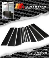 Карбоновые накладки на дверные стойки для BMW X5 e53 (00-07г.)