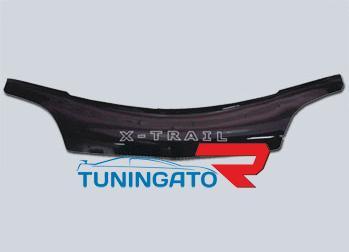 Дефлектор капота (черный) NISSAN X-TRAIL T30 (00-05)