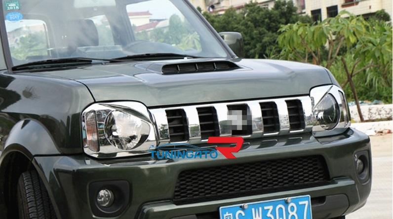Хром решетка радиатора в стиле Хамер на Suzuki Jimny