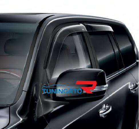 Дефлекторы боковых окон оригинал для Toyota Land Cruiser 2015+