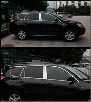 Хромированные молдинги вокруг боковых стекол для Toyota Vanguard 2006+