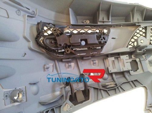Бампер рестайлинговый для Mercedes W221