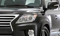 Ресницы на фары JAOS для Lexus LX570 2012г.+