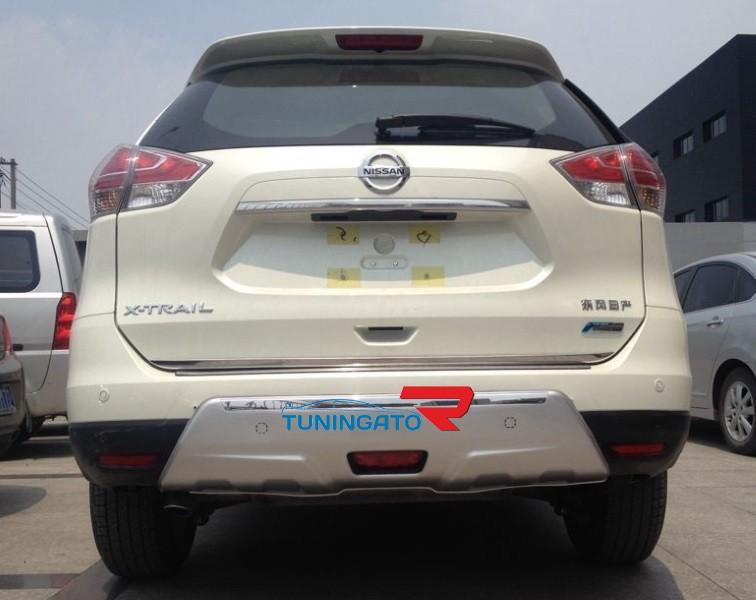 Накладки защитные на бампера для X-Trail 2014г. NEW