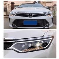 Реснички на фары для Toyota Camry 55 (2015-)