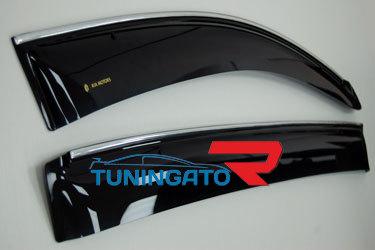 Дефлекторы с хромом для Nissan Pathfinder 05-12г.