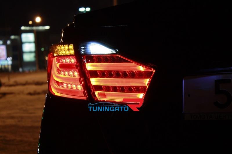Стоп-сигналы тюнинг BMW Style для Toyota Camry 55 2012+