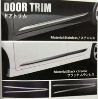 Хромированные молдинги на боковые двери для Toyota Prius 2009-