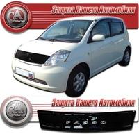Дефлектор капота (черный) TOYOTA PASSO (2004-2009)