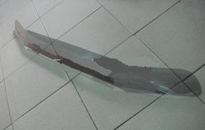 Дефлектор капота (серый) BG480T LAND CRUISER 78 (2008-)