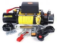 Лебедка электрическая 12V Electric Winch 9500lbs / 4310 кг с кевларовым тросом 10mm 2535
