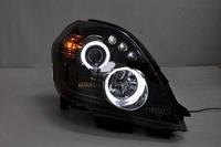 Фары тюнинговые черные (ангельские глазки) Nissan Teana (2003-2008)