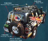 Бампер задний металлический FJ80-B027 для TOYOTA LAND CRUISER 80