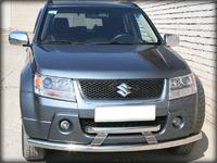 Дуга передняя по низу бампера d-60 радиусная двойная (GVN_8.1) для Suzuki Grand Vitara (2012)