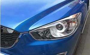 Хром накладки на фары для Mazda CX-5 (2012-)