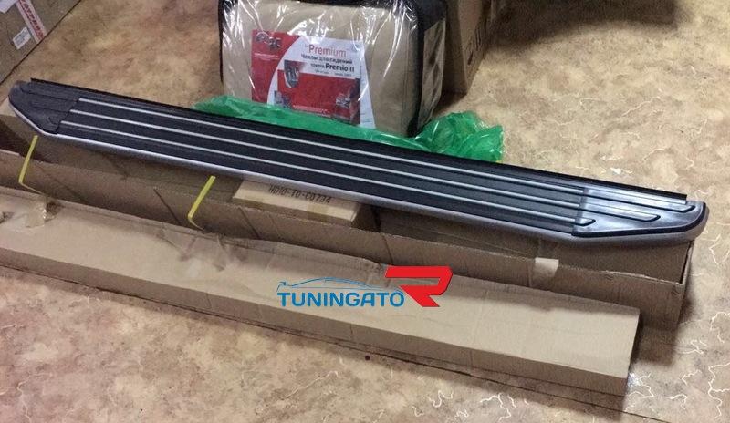 Подножки боковые алюминиевые HD0808-С0734 4RUNNER 2010г.