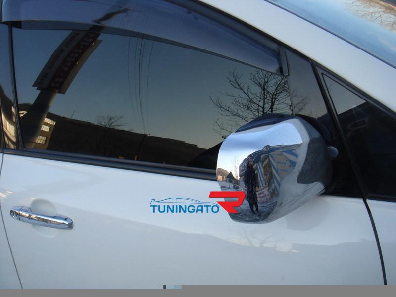 Хромированные накладки на боковые зеркала для TOYOTA IPSUM 2001-