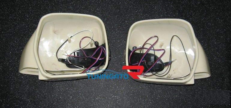 Корпуса зеркала с поворотниками и подсветкой под Mercedes для LAND CRUISER 100\ LX 470