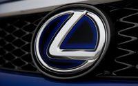 Эмблема в решетку радиатора для Lexus RX (синия)